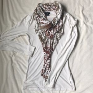 Anthropologie Blouse with Attached Scarf